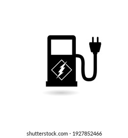 Charging station icon with shadow