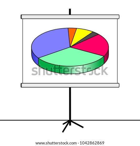 Chart Pie Chart Illustration Stock Illustration Royalty Free Stock