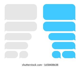 Chat box message bubbles. Balloon messenger screen template. flat dialog. Social media application. Chatting interface.