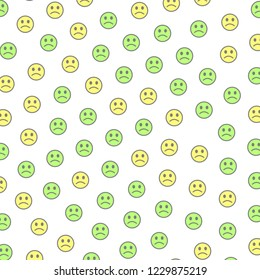 Chat concept. Beautiful pattern. Throng composed of funny feelings.