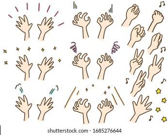 chatty hand ,Rock paper scissors,emotion