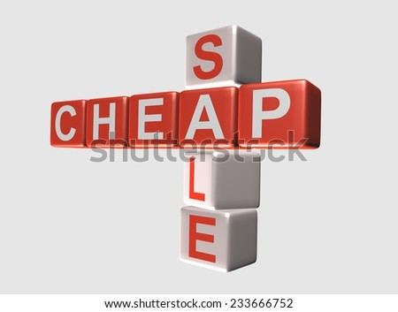 Cheap Sale Word Cube Concept Isolated Stock Illustration 233666752