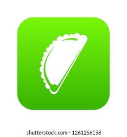Cheburek icon green isolated on white background