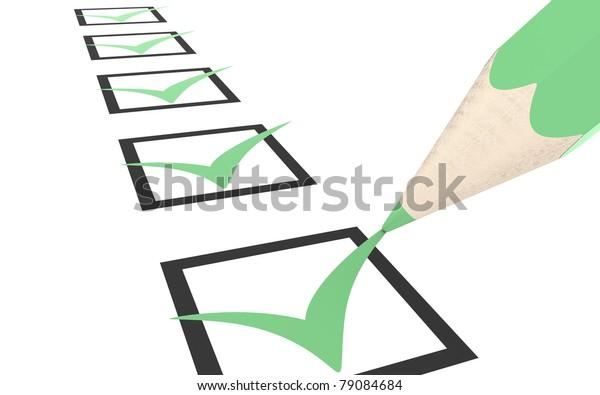 Check list. Green, Eco Edition