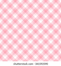 Checker pattern in hues of pink and white, seamless background