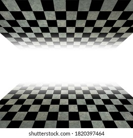 checkerboard shaped flooring with added texture