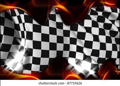 Checkered flag Race flag