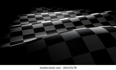 Checkered flag wave
