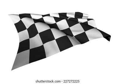 Checkered Flags illustration Racing flag