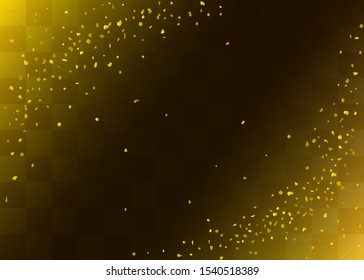 Checkered gold leaf celebration background (Japanese traditional paper texture)