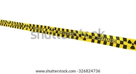 Checkered Nuclear Hazard Tape