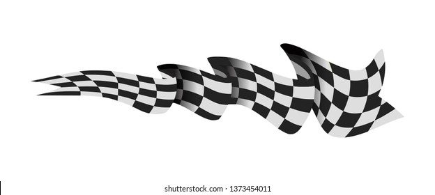 Checkered race flag illustration isolated on white