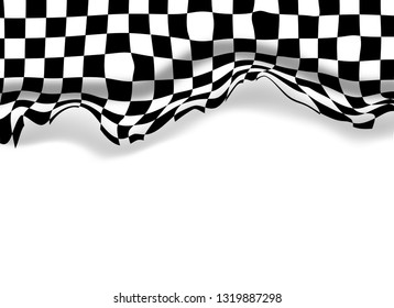 Checkered racing wall flag background wallpaper with copy space.