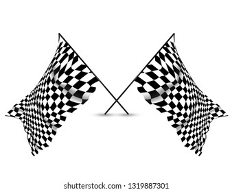 Checkered Racing Wall Flag Background and Wallpaper, copy space banner, sorts theme.