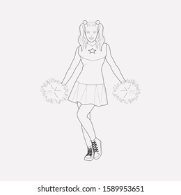 Cheerleader icon line element. illustration of cheerleader icon line isolated on clean background for your web mobile app logo design.