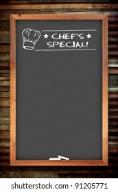 chef special chalkboard on the zinc background