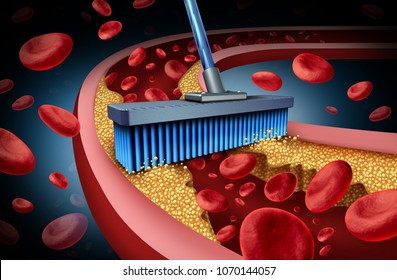 Chelation medicine treatment and alternative therapy for heart disease concept for human blood circulation disease with 3D illustration elements.