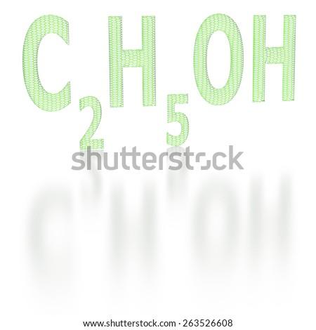 Chemical Formula Ethyl Alcohol Sixsided Grid Stock Illustration
