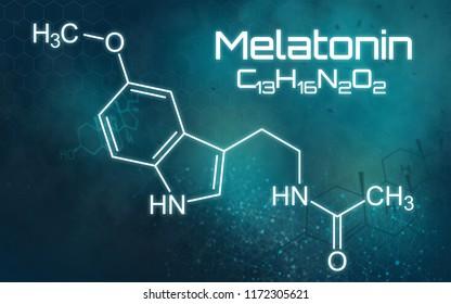 Chemical formula of Melatonin