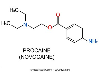 the chemical formula of procaine anesthetic agents used for local anesthesia in medicine