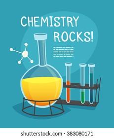 Chemical Laboratory Cartoon Concept