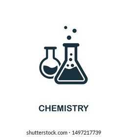 Chemistry icon illustration. Creative sign from education icons collection. Filled flat Chemistry icon for computer and mobile. Symbol, logo graphics.