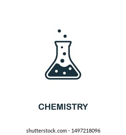 Chemistry icon illustration. Creative sign from biotechnology icons collection. Filled flat Chemistry icon for computer and mobile. Symbol, logo graphics.