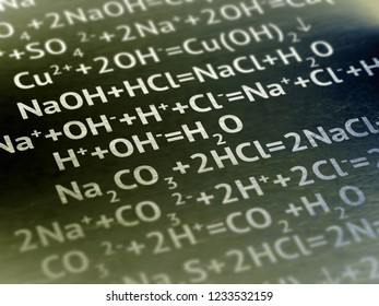 Chemistry on paper. Illustration.