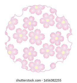 Cherry blossom background material seamless pattern illustration