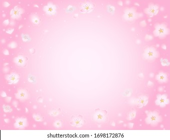 cherry blossoms pattern background image