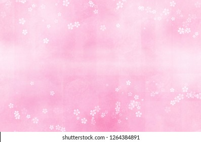 Cherry blossoms illustration (pink blurred background)