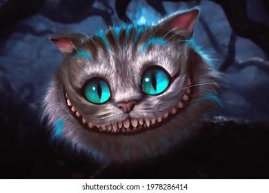cheshire cat big blue eyes