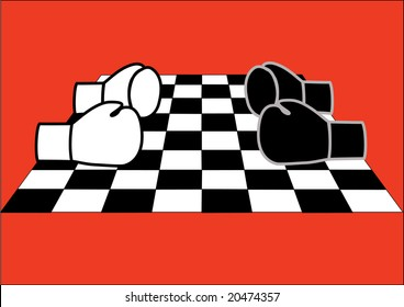 chess and boxing ( games sport strategy )