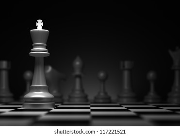 Chess concept with king (Computer generated image)