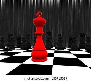 Chess three-dimensional,  Battle