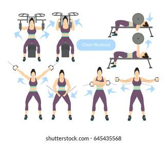 Chest workout set.