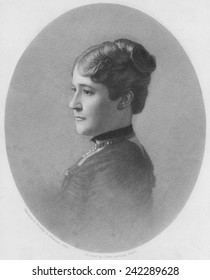 Chester Arthur's sister Mary, the wife John E. McElroy, the widower President's hostess from 1881-1885. Arthur became President in September 1881 after the assassination of James Garfield. 1903