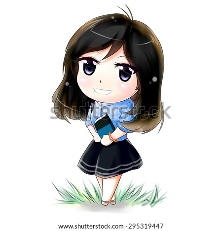royalty free stock illustration of chibi girl stock illustration