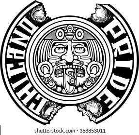 Chicano Pride Design on paper
