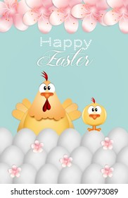 Chick wish Happy Easter