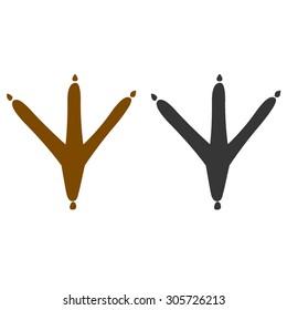 chicken footprint symbol