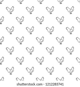 Chicken pattern seamless repeating for any web design