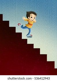 Cartoon Stairs Images Stock Photos Amp Vectors Shutterstock