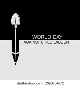 Child Labour Day Social Media Flyer Concept