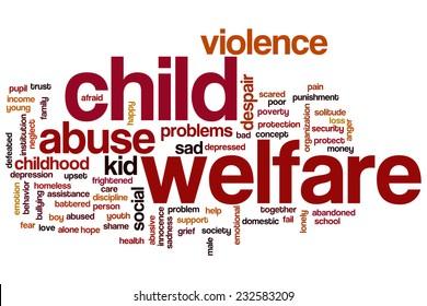 Child welfare word cloud concept