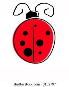 Child-like ladybug illustration