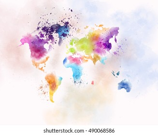 children map painting