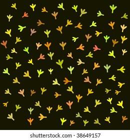 Children raster bird retro pattern