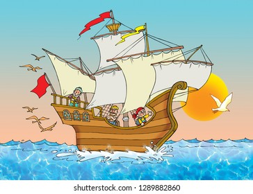 children's fairy tale Sinbad the Sailor