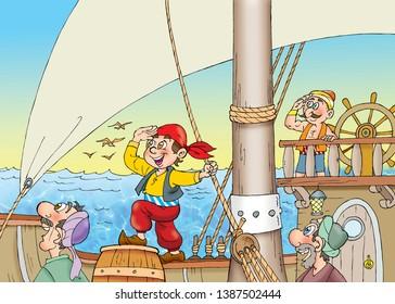 children's fairy tale sinbad at sea